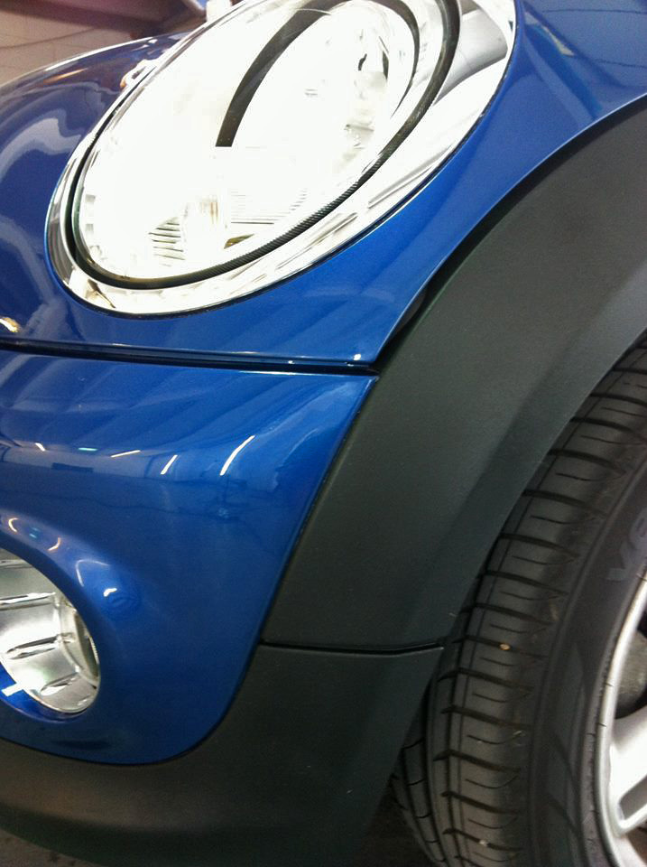 Scratched car bumper repaired by Paintmedic