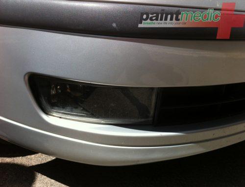 Bumper scratch after Paintmedic repair