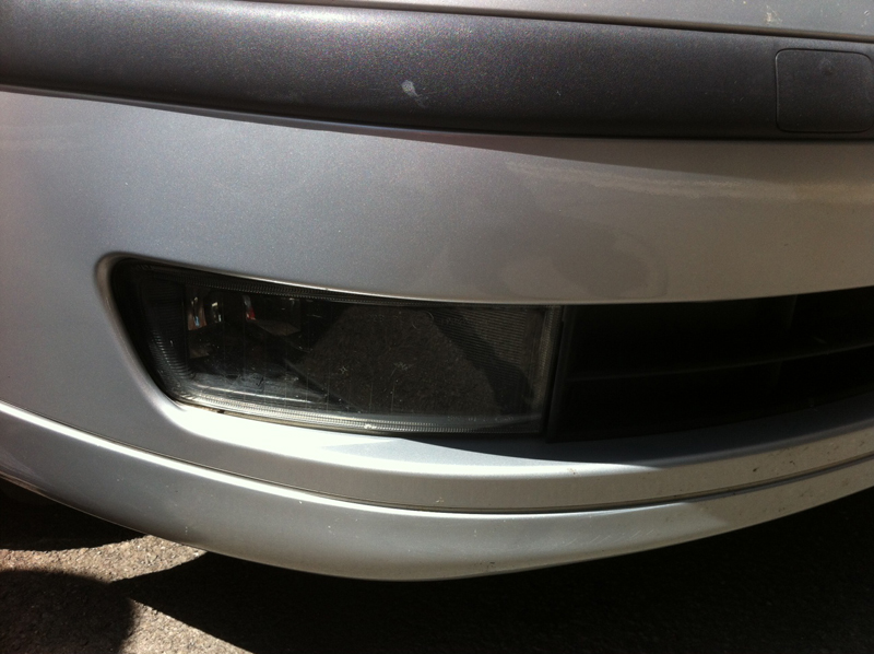 Bumper scratch after Paintmedic repair