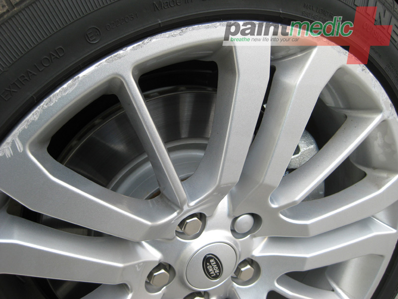Alloy wheel damage before Paintmedic repair
