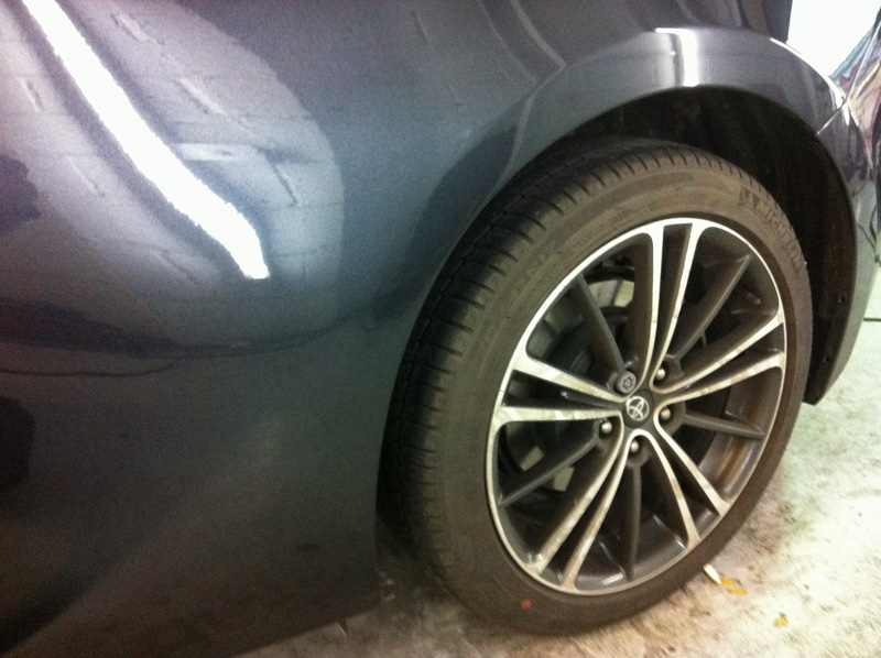 Scratched wheel arch repaired by Paintmedic
