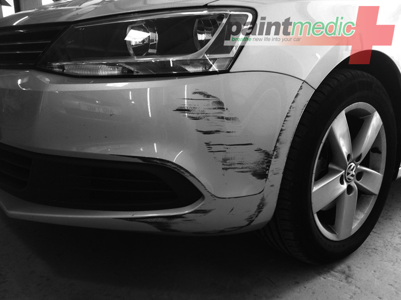 how to fix paint scratches on car bumper
