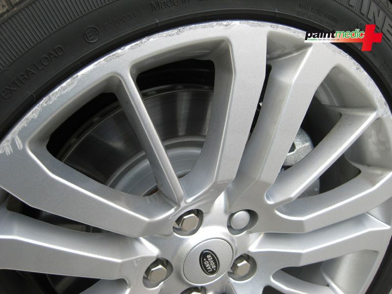 Alloy wheel damage before alloy wheel repair